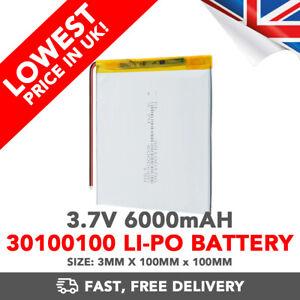 3.7V 6000mAh Li-Po Battery (30100100) Rechargeable High Capacity Tablet PCM