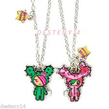 Neon Star by Tokidoki Cactus Magnetic Friendship Best Friends Pendant Necklaces