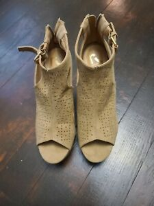 Report Tan Ankle Wedges. Nwt. Women's 8.5