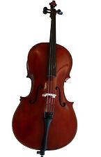 3/4 Violoncello Con Borsa eccellente qualità, vernice rossastro, Used-Look Nuovo!