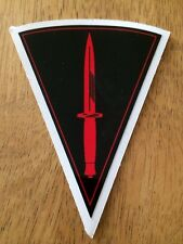 2X small MILITARY LAND ROVER SANKEY ROYAL MARINE COMMANDO DECALS  with border