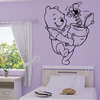 Stickers Winnie Boite Surprise + Prénom Personnalisable - Choix Taille-couleur