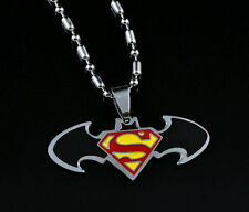 DC Batman Superman Steel Chain Pendant Necklace Child Boy Man Lady Xmas LZ11