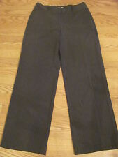 NWT $69 CHICOS Size 2 Reg Stretch Charcoal Stripe Trousers Pants Slacks 12