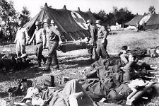 WW2 - Utah Beach - Blessés allemands soignés par le service de santé américain