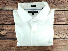 "Mens TOMMY HILFIGER Long Sleeve Shirt Slim Fit White   Medium 17"" Collar"