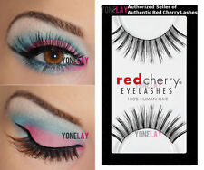 1 Pair AUTHENTIC RED CHERRY #113 Sabin False Eyelashes Human Hair Lash Lashes