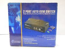2 Port Auto KVM Switch for Multi PC Users (NOS, New Old Stock)(QTY 1 ea)A04-3