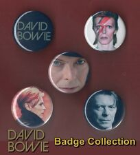 David Bowie - 5 x 31 mm Button Badges - Aladdin Sane - Set 4 - Free Post