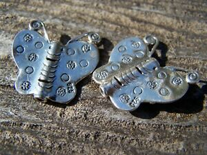 Sterling Silver Karen Hill Tribe Butterfly Beads