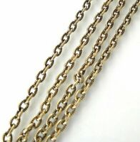 16 Inch Antiqued Gold Brass Cable Chain Necklace With Lobster Clasp