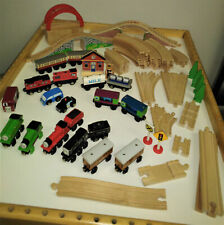 HUGE Lot of Thomas the Train Wooden Railway Track & Engines & Cars