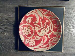 L'Objet Fortuny Uccelli Red Dessert Plates Set/4