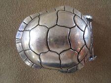 RARE!!! Huge Kieselstein Cord Silver Turtle Buckle
