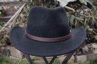 Outback Flexfelt Bush Hat by Olney Headwear – 100% wool, black, S/M/L/XL