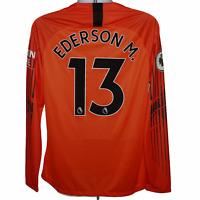 2018-2019 Manchester City Goalkeeper Shirt #31 Ederson, Nike, Large (Mint)