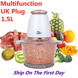 Food Processor Multi Electric Chopper Meat Blender Fruit Vegetable Mixer 1.5L
