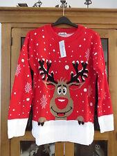 Senorita Christmas Reindeer Jumper Red size s/m BNWT