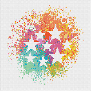 Stars in Space Cross Stitch Kit by Meloca Designs