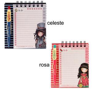 Gorjuss santoro Notebook + Pen Box Plastic Pages Decorated Memo Pad