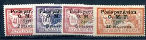SYRIE 1922 Yvert PA 10-13 * gute WERTE FLUGPOST SATZ 170€(F1342
