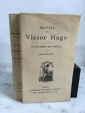 Oeuvres de Victor Hugo La légende des siècles Alphonse Lemerre 1931
