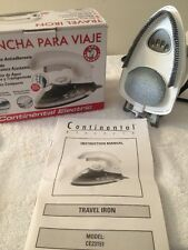 Travel Iron Continental Electric Ce23151 in orginial box with instructions