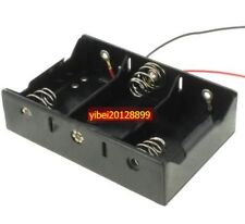 1pc x Hold 3 D Size Cell Battery Holder Box 4.5V DC Case With Cable Line