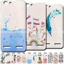 Fashion Soft Skin TPU Back Painted Cute Rubber Gel Cover Case For Lenovo Vibe K5