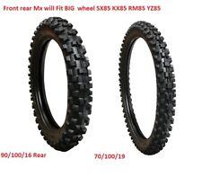 Motorcross 90/100-16 & 70/100/19 Front & Rear Tyre Pack Big Wheel kx85 sx85 rm85
