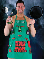 Stand Clear Man Cooking Apron Party,Secret Santa,Funny Novelty BBQ Birthday Gift
