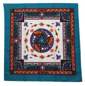 New MTL Southwest Aztec Turquoise Bandana USA Made