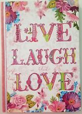'Live Laugh Love'  Journal With Jeweled Stones - Pooch & Sweetheart Hardback