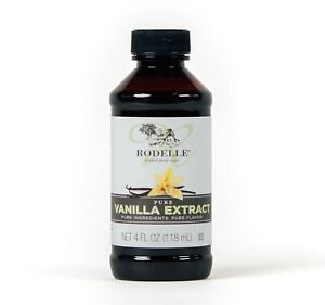 Rodelle Pure Vanilla Extract, 4 oz Bottle  BEST BEFORE MAY 2025