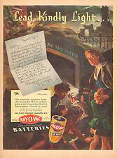 1943 WW2 RAY O VAC Bartteries Flashlight Air Raid Shelter BEAUTIFUL ART ! 20317