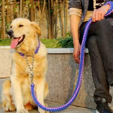 Upgraded Dog Lead Collar Walk The Dog Outdor Dual Colors Anti-lost Braided Leash