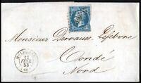 France 1858 20c Imperf Emperor Napoléon Wrapper Mulhouse