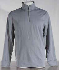NWT Calvin Klein Jeans Mens 1/4 Zip Pullover Long Sleeve Shirt LARGE Grey Collar