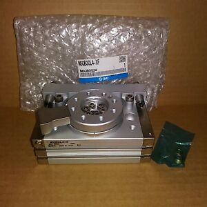 SMC MSQB30L4-XF Pneumatic Rotary Cylinder With Shock Absorbers - New in Box