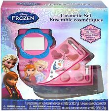 DISNEY FROZEN PINK COSMETIC SET LIP GLOSS,LIP  STICK,NAIL FILE,CASE,2 BRUSHES