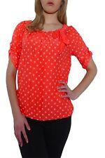 Markenlose Kurzarm Damenblusen, - tops & -shirts aus Seide