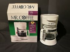 Mr Coffee 4 Cup Coffee Maker White AD4 Lighted On / Off Switch w/box
