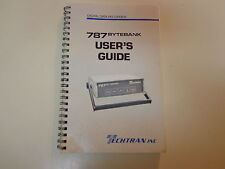Techtran Inc 787 Bytebank User's Guide 1986 Electronics Digital Data Recorder