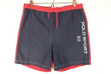 Ralph Lauren Polo Sport Vintage Swimming Shorts Mens Sz XL Spell Out Shorts