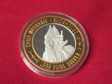 "Limited Native American Series .999 Fine Silver Coin Token ""CHIEF WASHAKIE"""