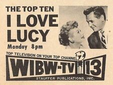 1958 TV AD~I LOVE LUCY LUCILLE BALL DESI ARNAZ WIBW TOPEKA,KANSAS