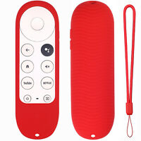 LGDD TV Remote Control Silicone Cover Google TV 2020 Voice Remote Control 2020 Shockproof Protective Cover Free Lanyard Chromecast Voice Special Silicone Cover
