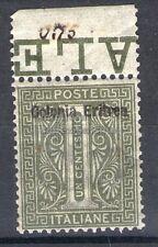 MC 1893 Eritrea 1c MNH** centrato