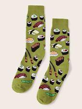 Sushi edamame print Japanese cotton socks, girls women cute novelty gift