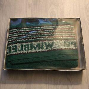 RARE WIMBLEDON TENNIS OFFICIAL TOWEL, New In Sealed Box! Collectible Memorobilia